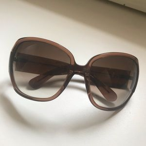 Marc Jacobs Translucent Brown Sunglasses